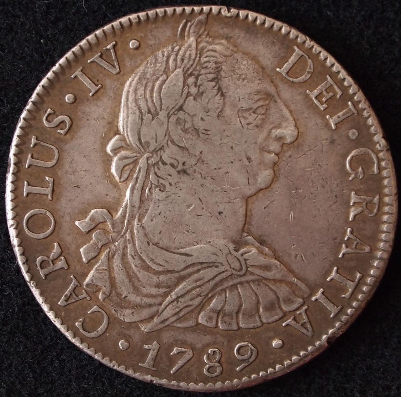 8 reales Carlos IV 1789 Mexico 1
