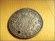 4 reales columnarios de 1735. Felipe V, Mexico SANY4079