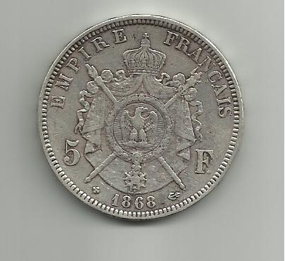 5 francos de Napoleon III 1868 5_francos_napoleon_III_1868_BB_rever