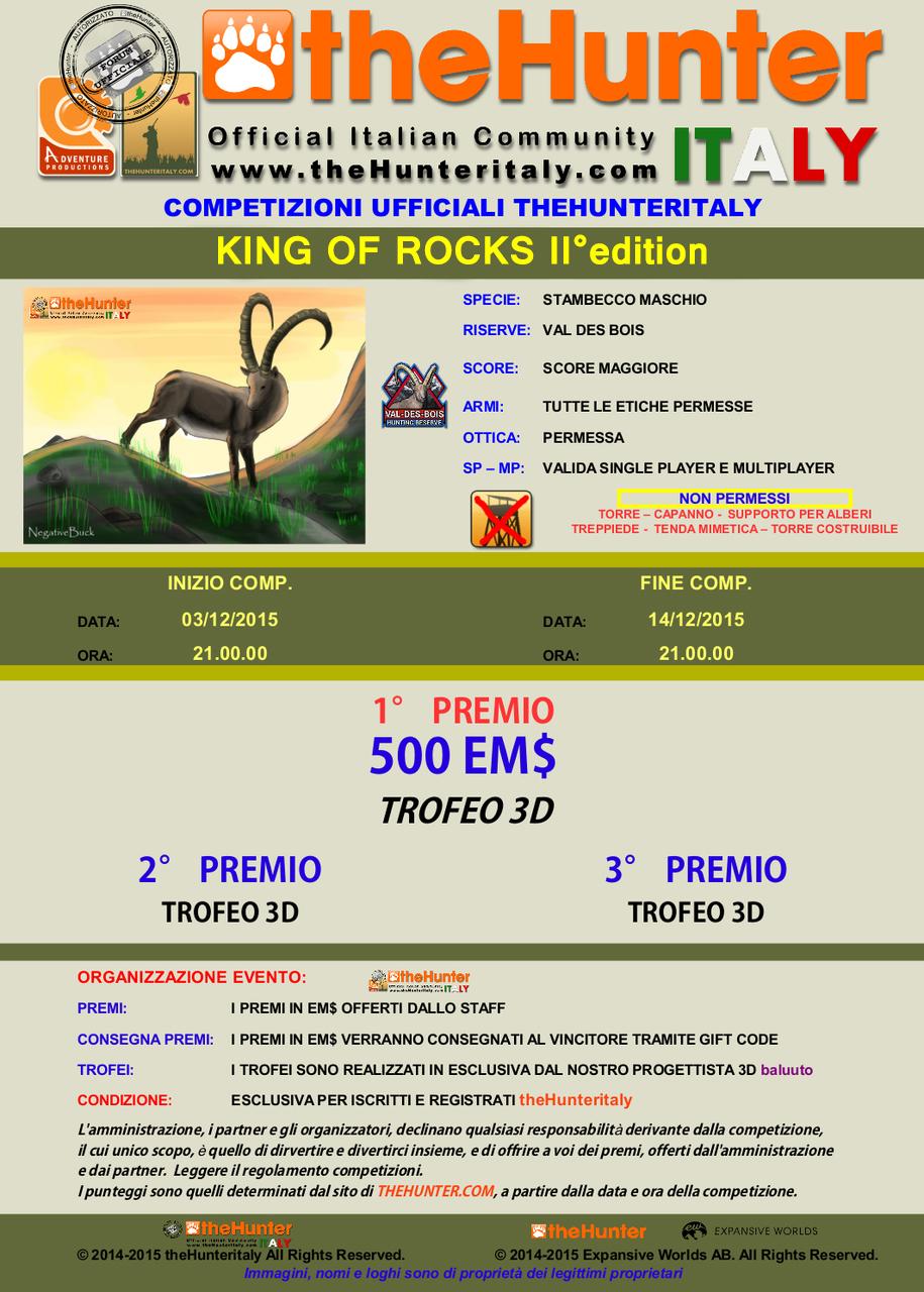 [CONCLUSA] - Competizioni Ufficiali theHunterItaly:  - King of Rocks II edition - Stambecco TRIS_STAMBECCO_II_edition