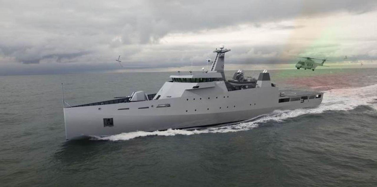 Diseño Damen de 2 generacion para Patrullas Oceanicas y/o Corbetas - Multimodal OPV_Sea_Axe_1800_DAMEN4