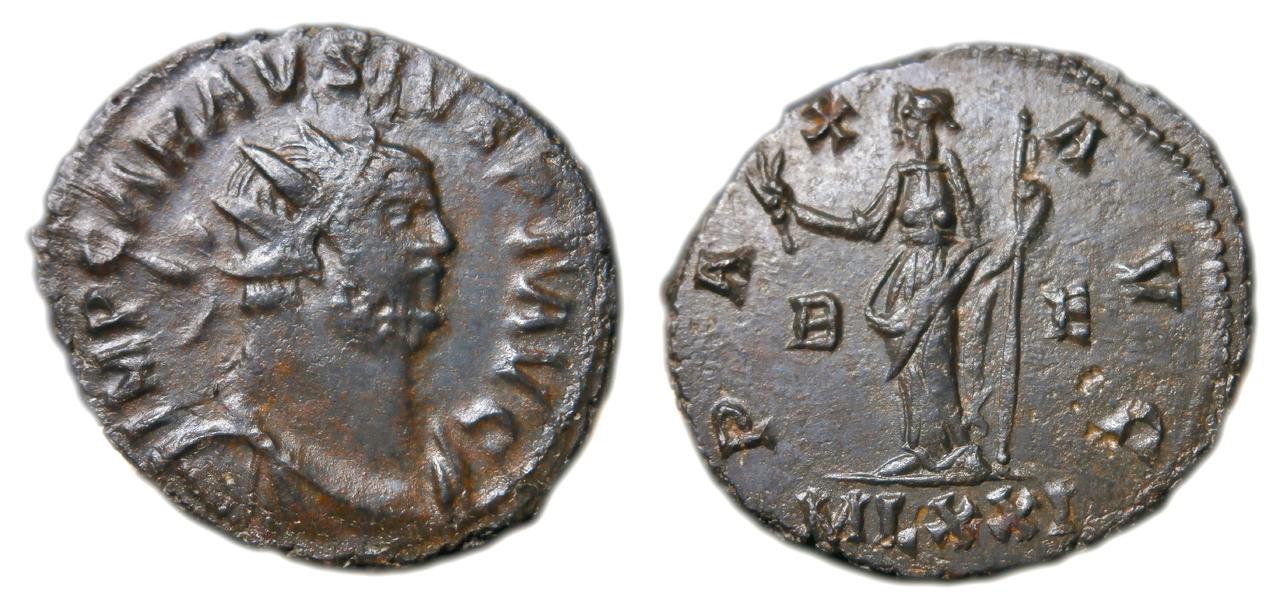 Antoniniano de CARAVSIVS. PAX AVG. Paz estante a izq. Ceca Londinium. Sin_t_tulo-1