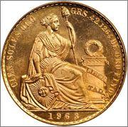 100 Soles de oro 1963 Peru  Image
