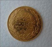100 piaster AH 1293 ,año 32 (1906)TURKIA Image