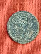 4 maravedis Felipe III ceca SEGOVIA con resellos. 2600_1