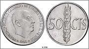 50 cts. 1966*1970 (Prueba) - Estado Español. Image