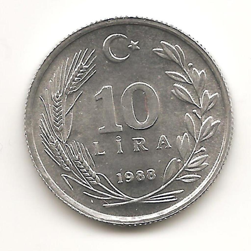 10 lira de Turquía 1988 Image