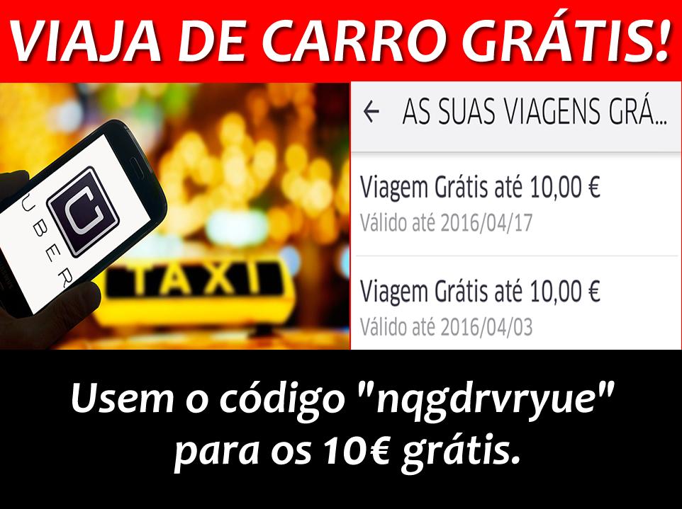 [Provado] Uber - Tem um Motorista (taxi) de Borla - Aproveita 5 Euros Grátis  - Página 2 Gratis
