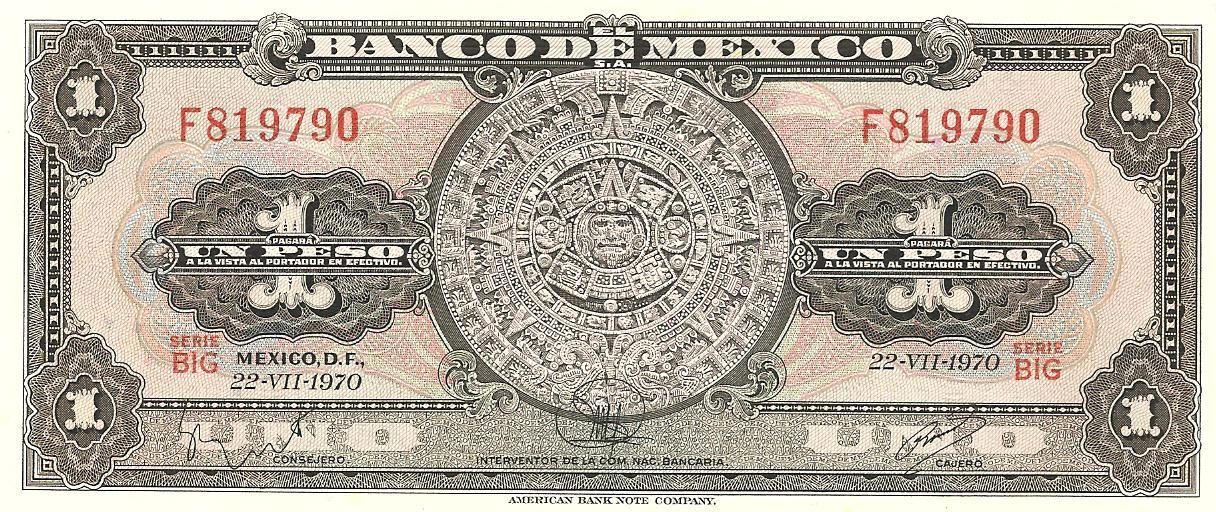1 peso de México año 1970 Image