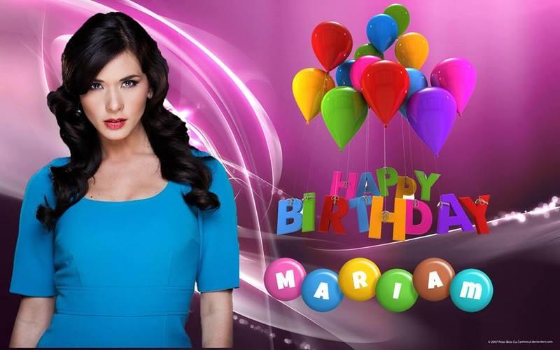 Happy Birthday Dear Mariam !!! Knc6m