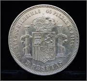 5 Pesetas 1871 G.P. Gp2