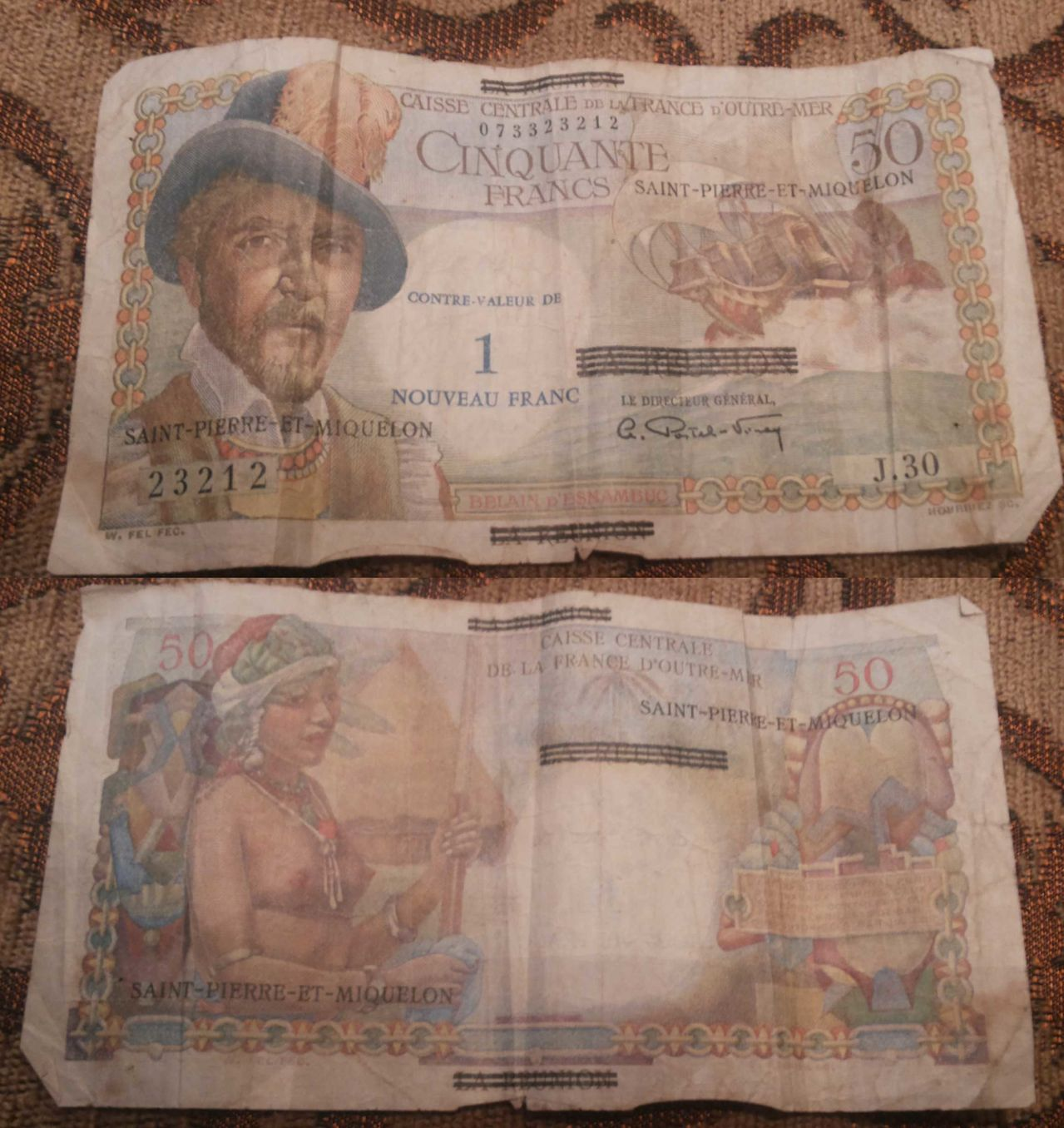 billetes Saint Pierre et Miquelon Cincuenta_francos