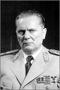 2 Dinares República de la Salvación Nacional de Serbia  Josip_Broz_Tito_uniform_portrait