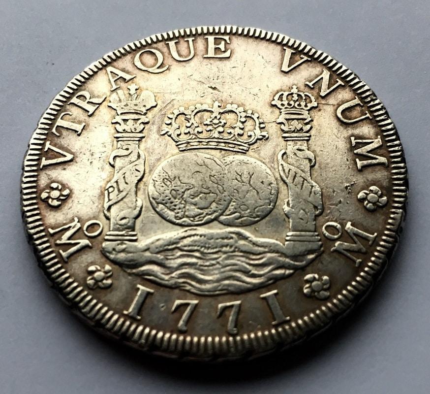 8 reales 1771. Carlos III. Méjico F.M. Columnario IMG_0480