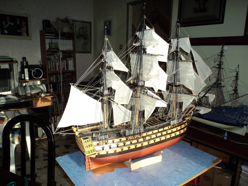 constitution - Lavori terminati, USS Constitution, Soleil Royal, HMS.Victory. DSC04529