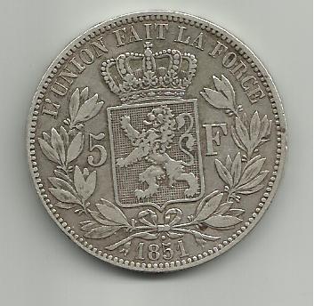 5 francos belgas 1851 Leopoldo I 5_francos_Belgica_Leopoldo_I_1851_rever