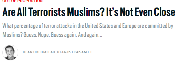 tous les Terroristes sont Musulmans? Image