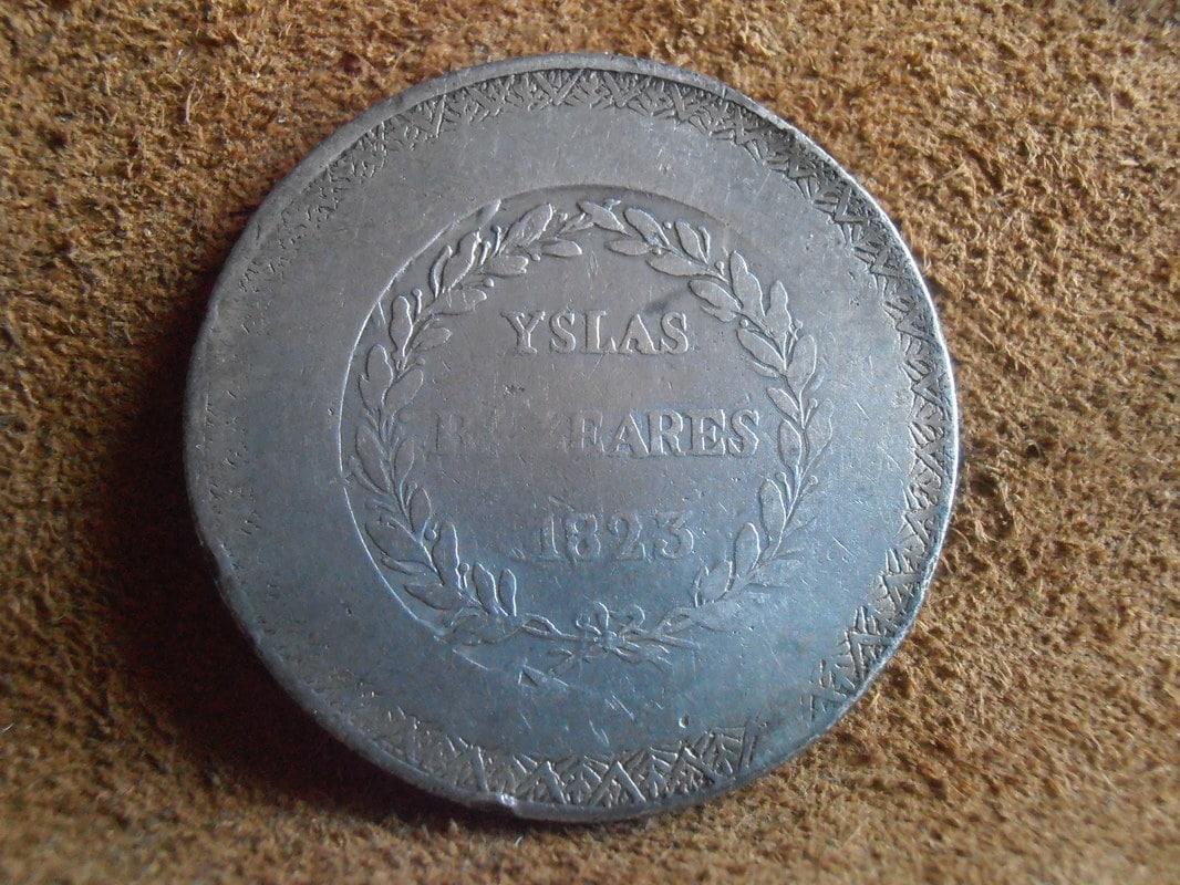 5 Pesetas 1823.Fernando VII. Mallorca P5230013