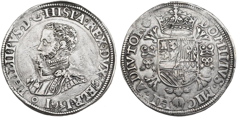 Philipsdaalder (Escudo) de 1561. Felipe II. Ducado de Gueldres, Nimega (con falso resello) Image00312