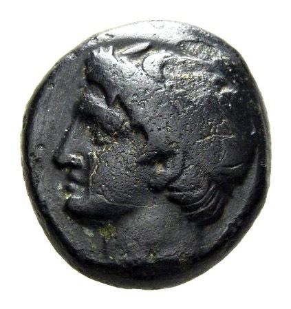 Bronce de Filipo II. Macedonia (ΦIΛIΠΠOY). Anverso