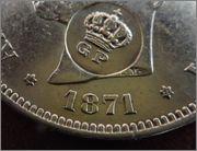5 Pesetas 1871 G.P. Gp1