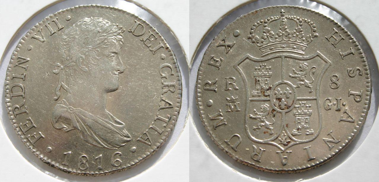 8 reales 1816. Fernando VII. Madrid. 8_Reales_1816_2