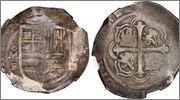 8 reales macuquinos. Felipe III. Méjico. MF (1607-1617) Image39334