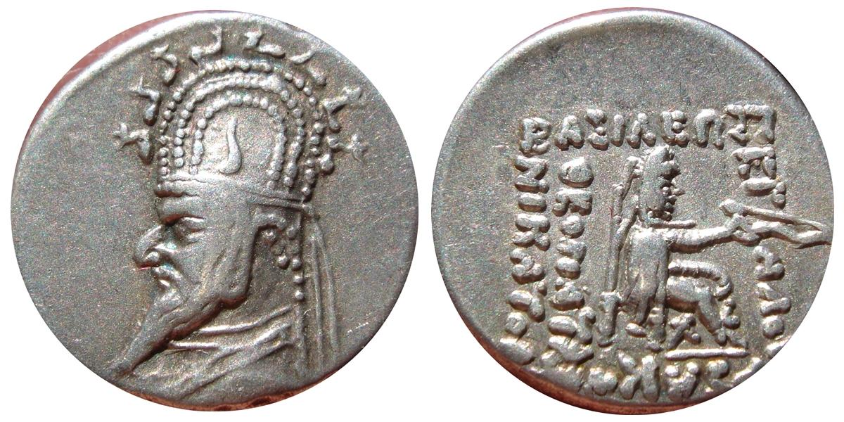 Dracma de Gotarzes I. 155