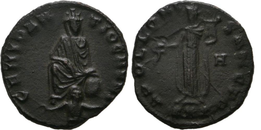 1/4 de nummus anónimo atribuido al reinado de Maximino II Maximino_ii_8_off