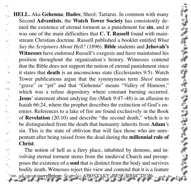 Les Absurdités du christianisme des Témoins de jéhovah ENFER_ET_TJ