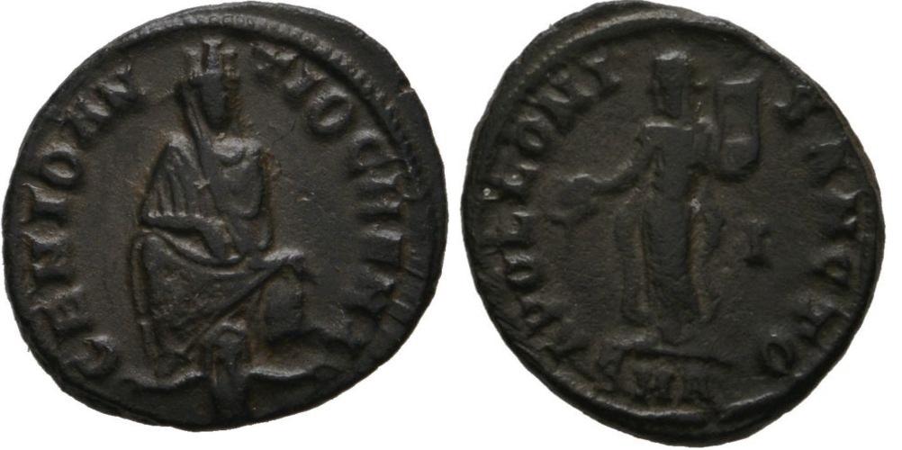 1/4 de nummus anónimo atribuido al reinado de Maximino II Maximino_ii_10_off