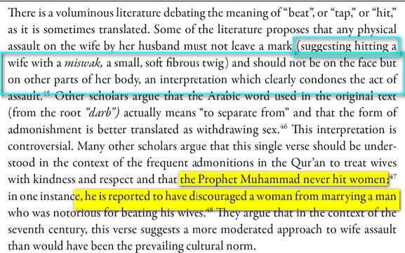 Le Coran ordonne t-il de frapper sa femme Lol