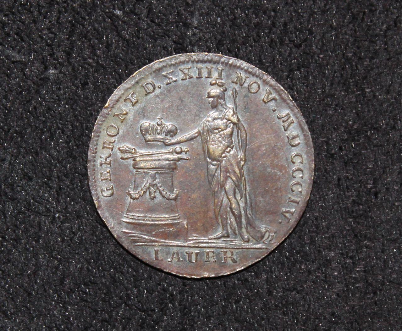 Jetón de Napoleón Bonaparte. Coronación. 1804. IMG_8467