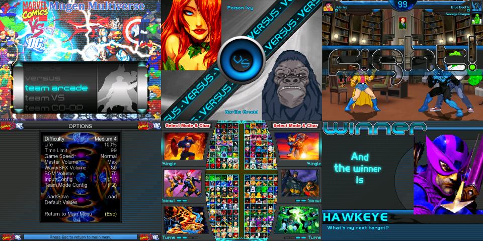 Marvel vs. DC Mugen Multiverse screenpack