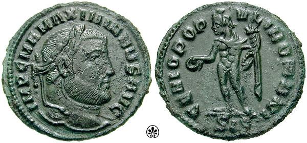 Denominación de monedas en la antigua Roma: El Bajo Imperio. 0_0cuato_de_follis
