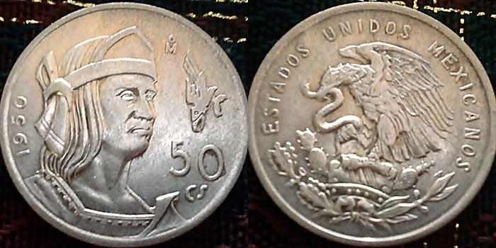50 Centavos. Mexico. 1950 Page