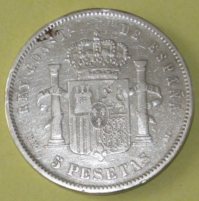 Duros de Plata de Alfonso XII 1879b
