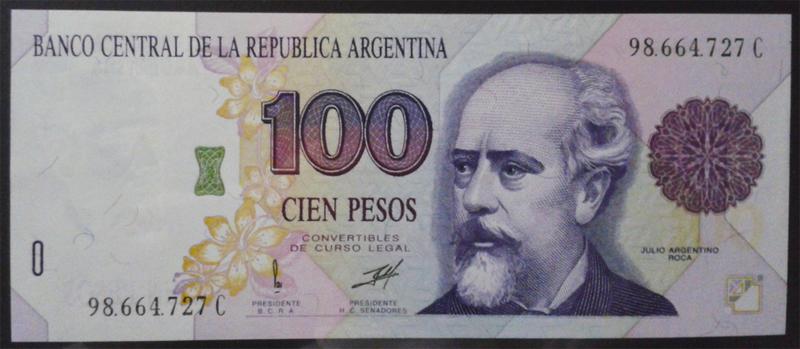 Argentina, 100 Pesos convertibles Arg345ba