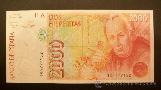 """Variedad """"chillona"""" 2000 pesetas 1992 1er modelo 34654524"""