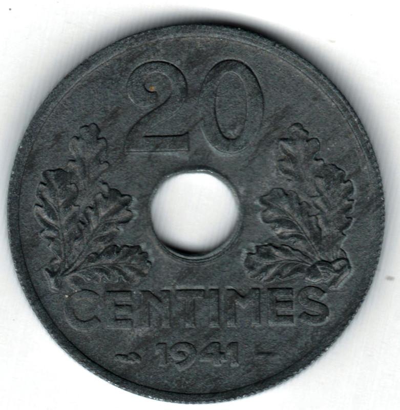 20 centimes 1941-Francia-ETAT FRANÇAIS- 20_centimes_Francia_1941b