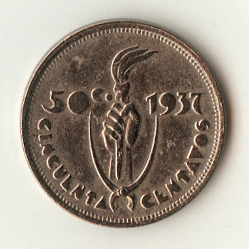 50 Centavos. Bolivia. 1937. Viena  50_centavos_1937_anverso