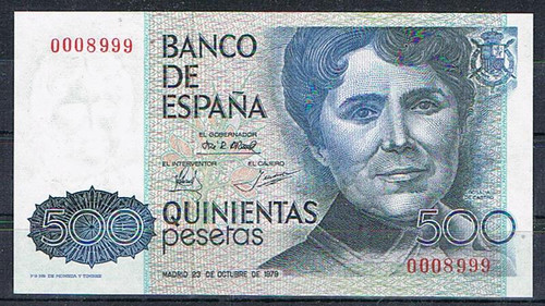 BUEN BILLETE DE 500 PESETAS 1979!!NÚMERO CURIOSO. 500_pesetas_1979_numero_bonito