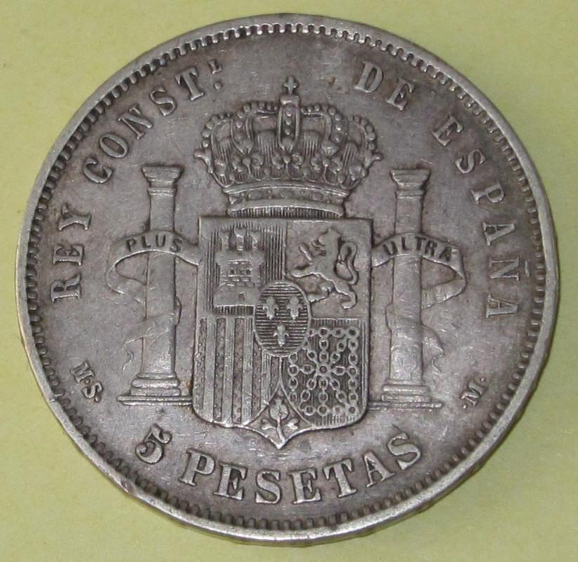 Duros de Plata de Alfonso XII 1884b