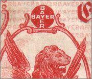 100000 Marcos Alemania 1923 (Billete de necesidad de la Compañía Bayer) B00