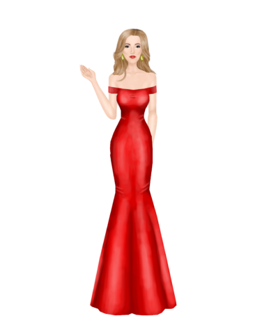 Bright Red Gown  Outfit_8