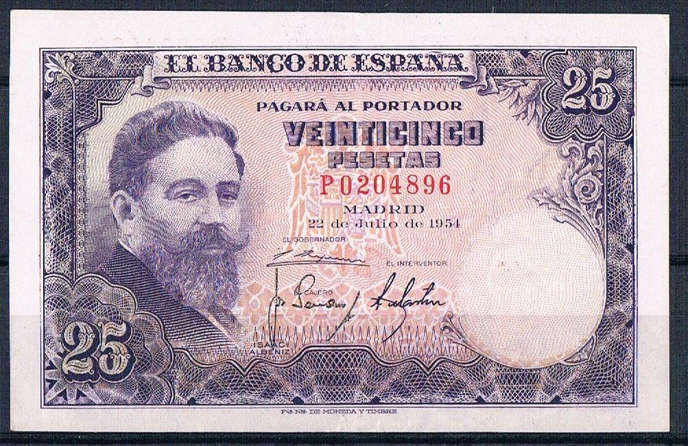 25 Pesetas 1954 (Serie P) 25_pts_1954_Serie_P