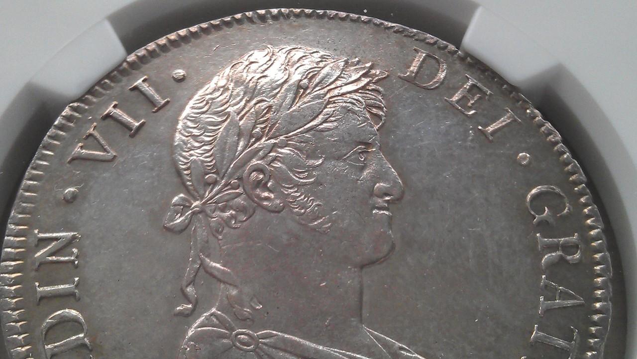 8 reales 1813 Fernando VII Guatemala IMAG0674