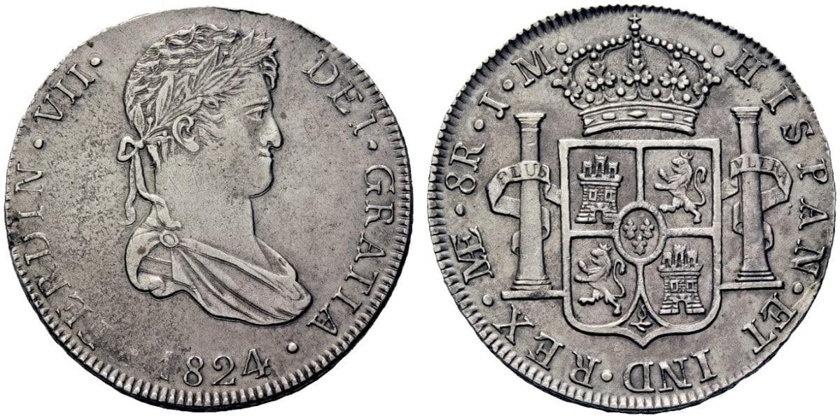 8 reales 1824 Lima. Fernando Vll 2368637l