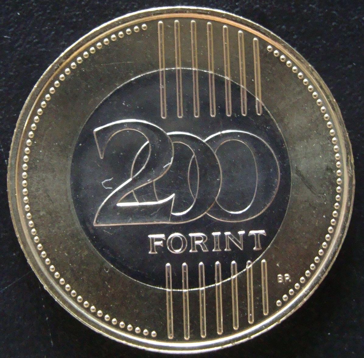 200 Forint. Hungría (2012) HUN_200_Forint_2012_rev