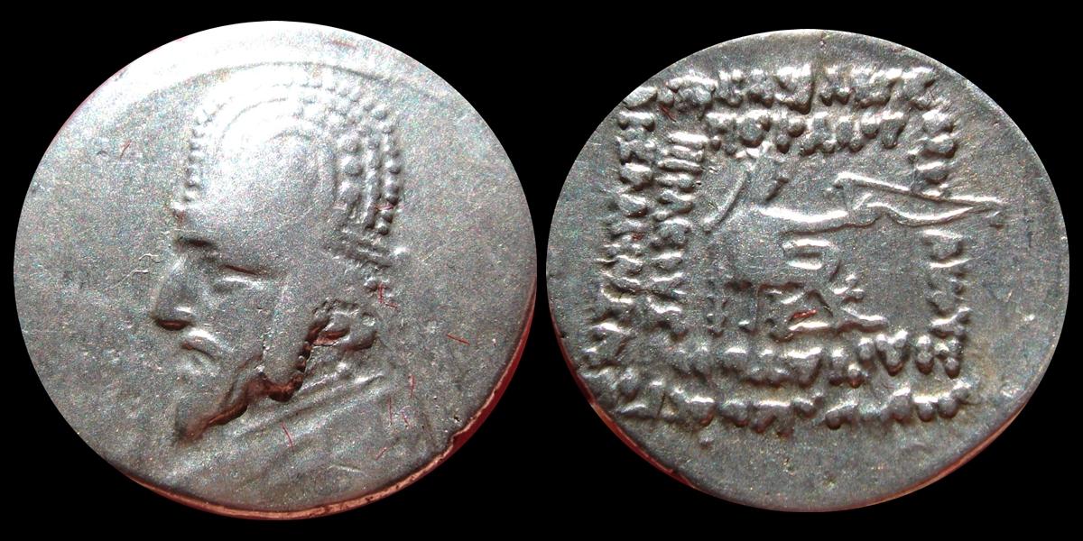 Dracma de Orodes I. 144